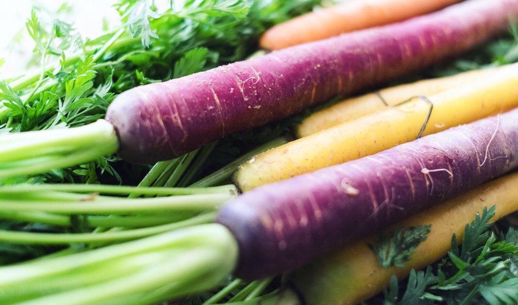 Βιταμίνη Α καρότα με διαφορετικά χρώματα