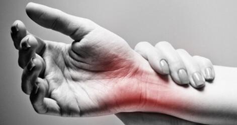 Ένδειξη πόνου στον καρπό