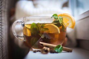 σάκχαρο βότανα μπαχαρικά πράσινο τσάι με λεμόνι