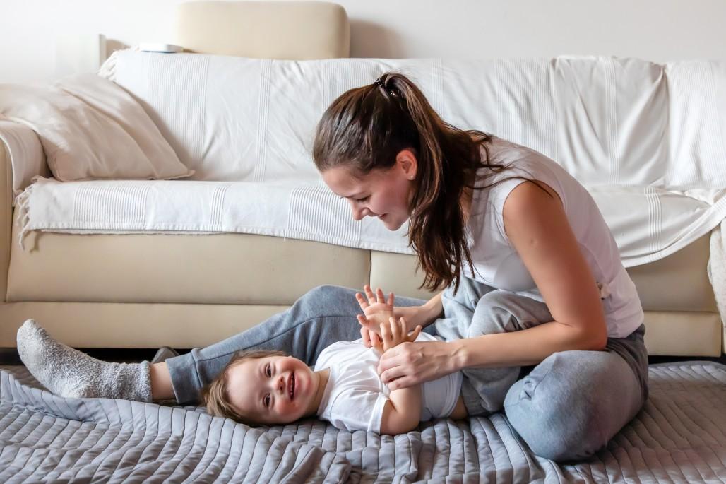 Μαμά μαζί με παιδί με σύνδρομο down