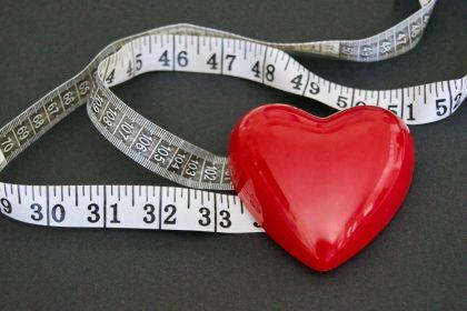 μέζουρα για μέτρηση λόγω αύξησης βάρους από κόψιμο τσιγάρου που έχει οφέλη στην καρδιά