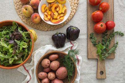 vegan δίαιτα απώλεια βάρους λαχανικά και φρούτα