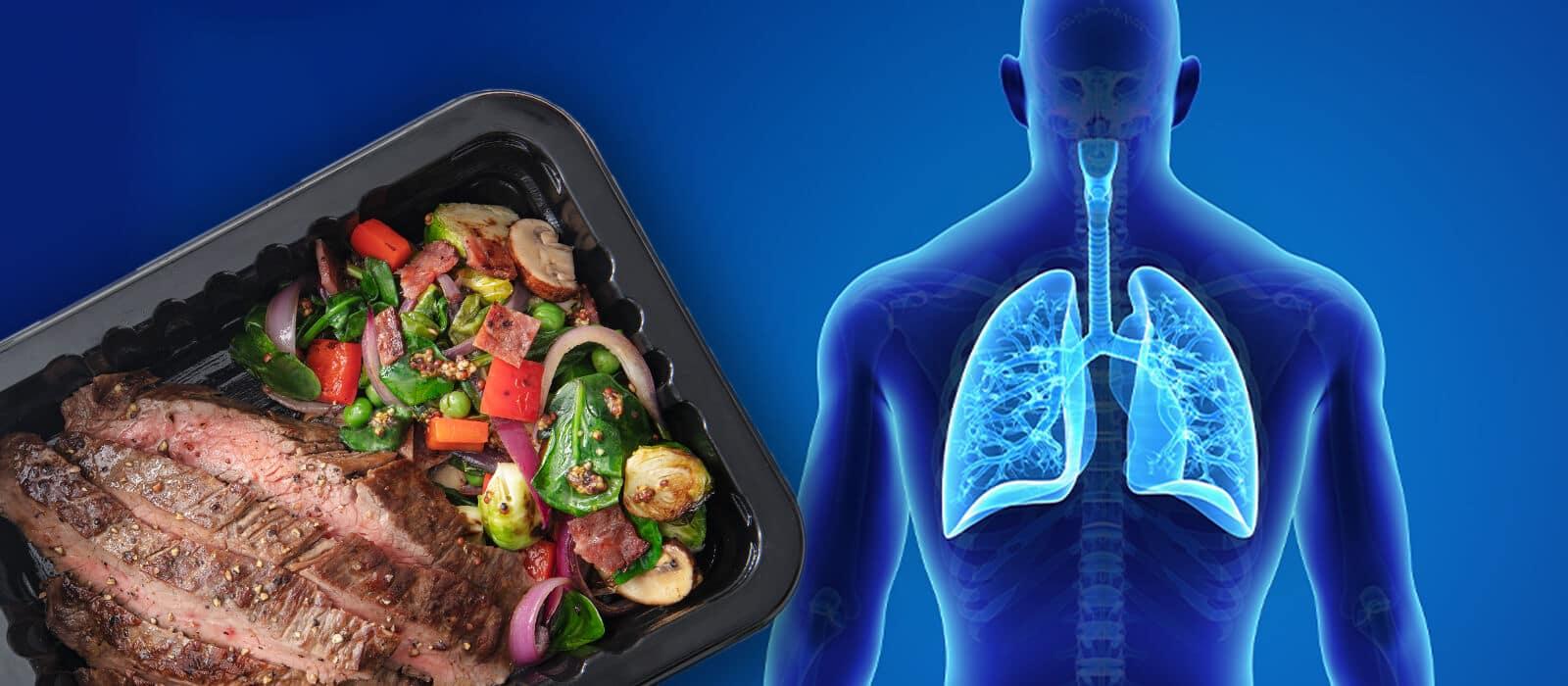 αναπνευστικό σύστημα και τρόφιμα