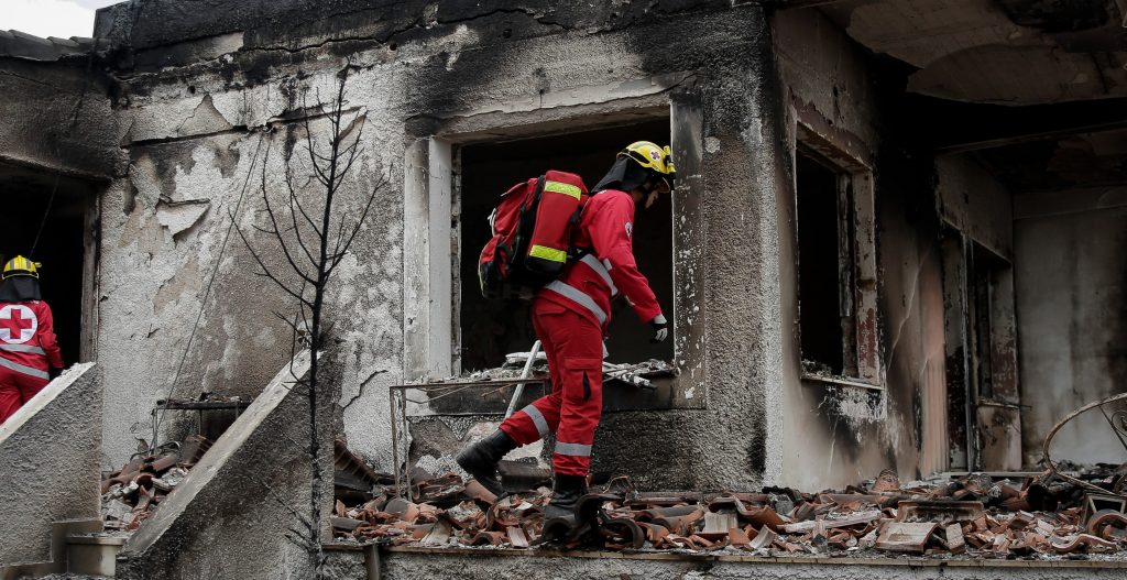 Μάτι Έγκαυμα πυροσβέστης φωτιά health4u
