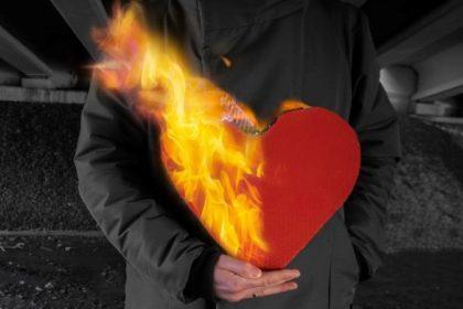 μάτι έγκαυμα φωτιά καρδία που φλέγεται health4u