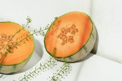 φρούτα με κάλιο πεπόνι κομμένο
